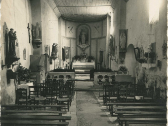 Interieur de l'église - milieu 20ème siècle
